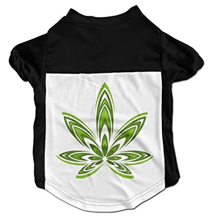 Amazon Pot Weed Leaf Symbol Cute Pet Shirt For Small Dogs Cats