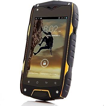 Z6 IP68 Teléfono Smartphone Android 4.2 MTK6572 Dual Core 1.2GHz 4GB ROM 512MB RAM WCDMA / GSM 3G GPS pantalla táctil de 800 x 480 píxeles y cámara de 8.0 megapíxeles (Amarillo): Amazon.es: Electrónica