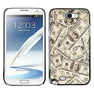 All Phone Most Case / Hard PC Metal piece Shell Slim Cover Protective Case for Samsung Note 2 N7100 Money Dollar Wallpaper Wealth Symbol Usa