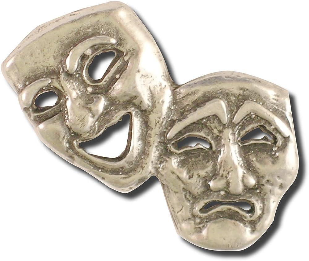Drama Mask Lapel Pin Actor Gear