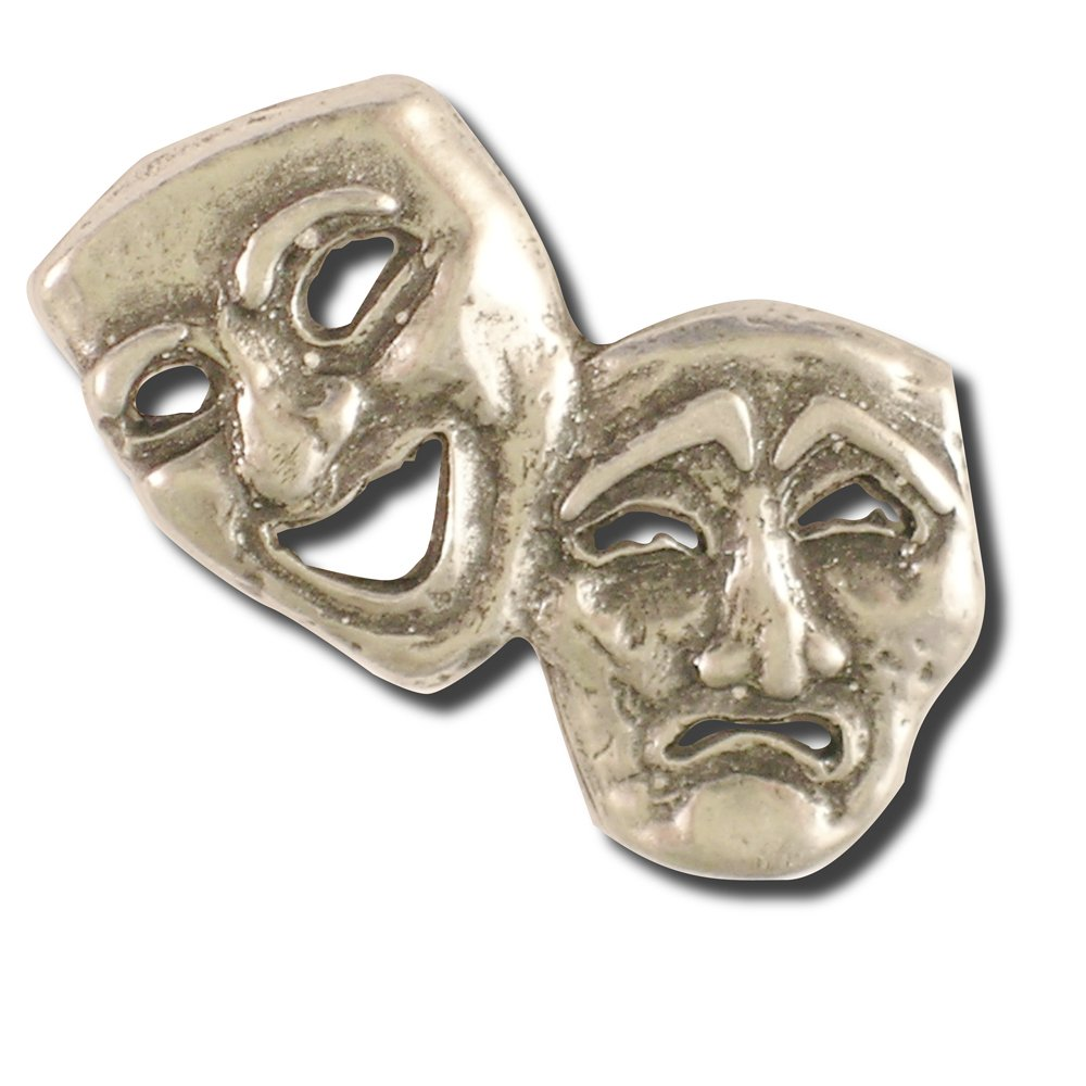 Theatre Mask Pin (Qty: 50)