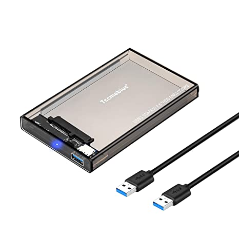 Tccmebius - Adaptador de carcasa externa para disco duro USB 3.0 a ...