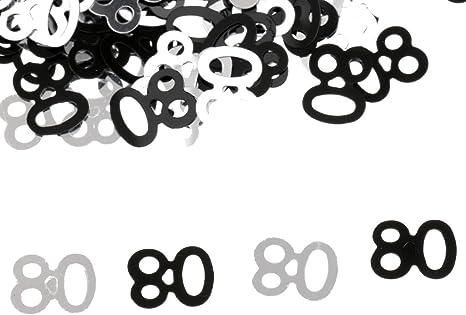 80 Confetti Konfetti Alter Nummer Geburtstag Party Hochzeit Jahrestag