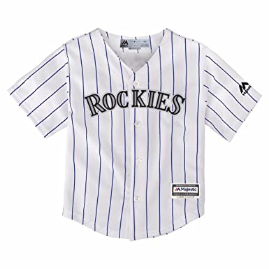 quality design 1e682 1230b Majestic Athletic Colorado Rockies Home Pinstripe Cool Base Toddler MLB  Jerseys (3T)