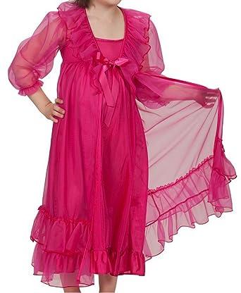 4d35334563 Amazon.com  Laura Dare Girls Princess Peignoir Set Includes Nightgown and  Sheer Ruffle Robe USA  Clothing
