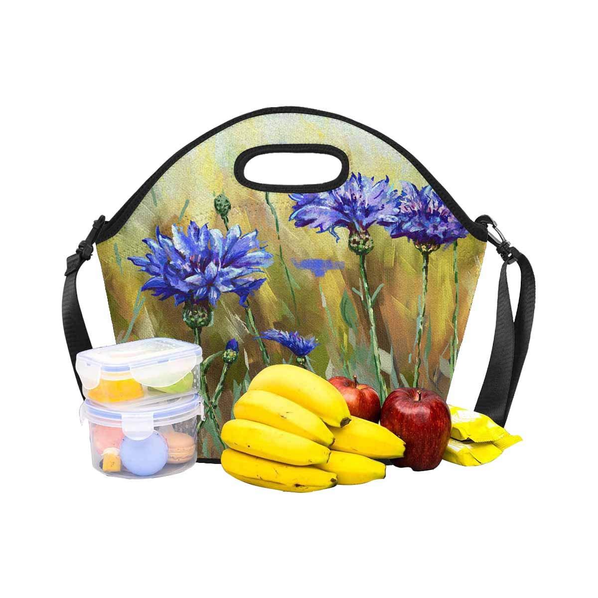 848c1455dc36 Amazon.com: InterestPrint Cornflower Flower Oil Painting Lunch Tote ...