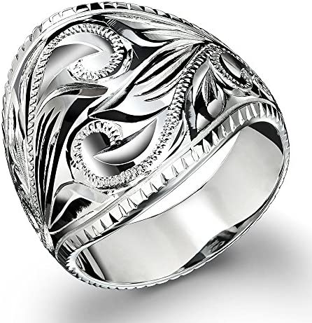 ハワイアンジュエリー リング シルバー925 スクロール ボリューミー 指輪 日本サイズ27号 SR701-PRIME