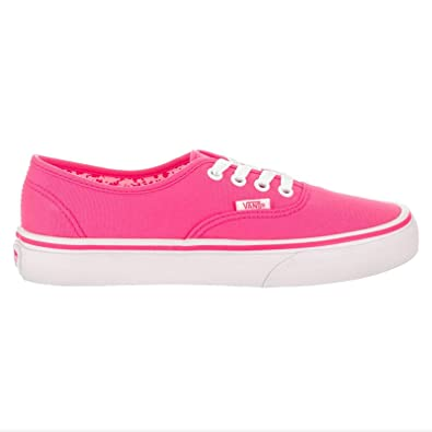46dd614a28948 Amazon.com | Vans Womens Authentic Neon Splatter Pink Canvas ...