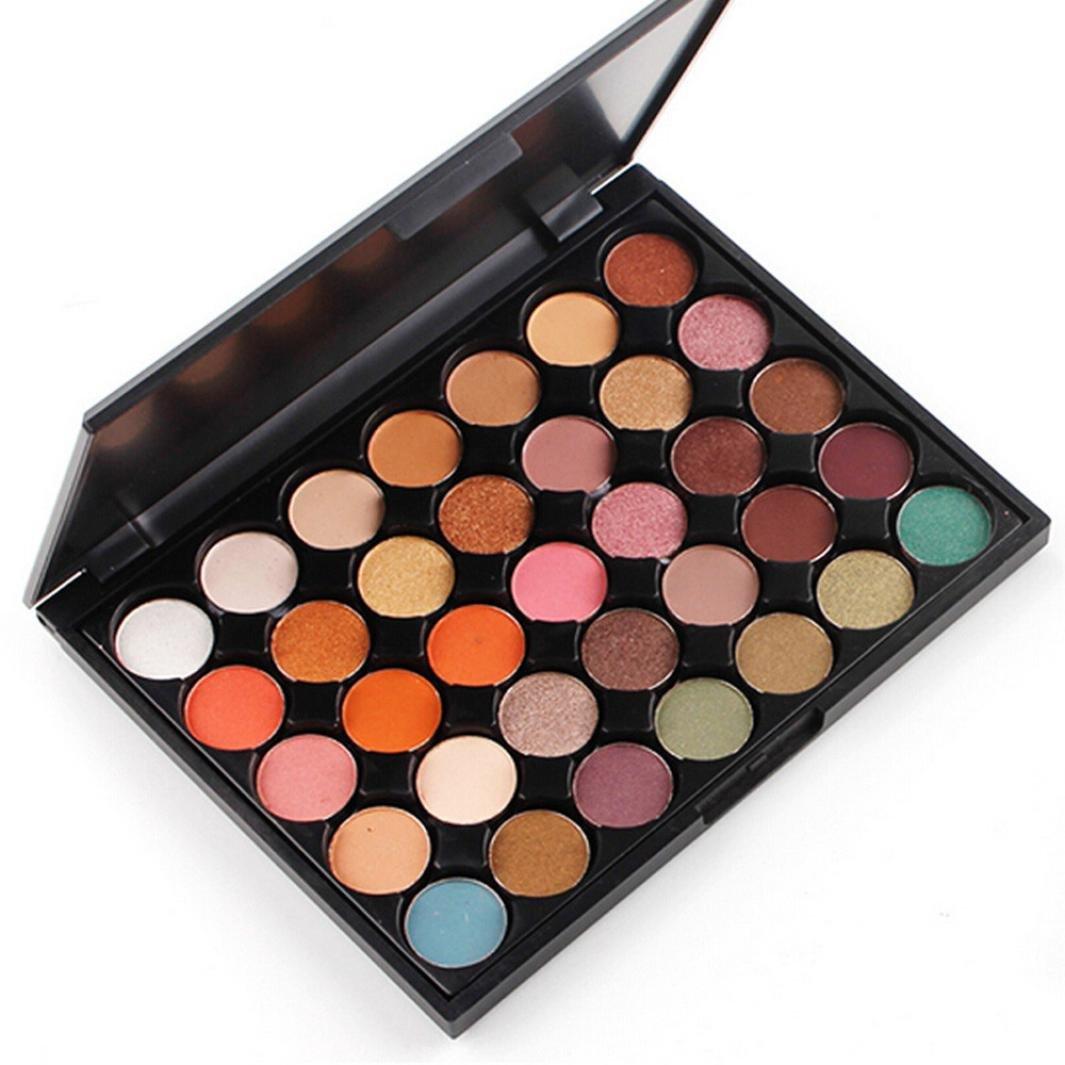 Yanhoo Palette Ombretto, 35 Color coloShimmer Glitter Eye Shadow Powder Matt Eyeshadow Cosmetic Makeup Impermeabile Non Rimuovere Il Trucco Perla Matte 1212