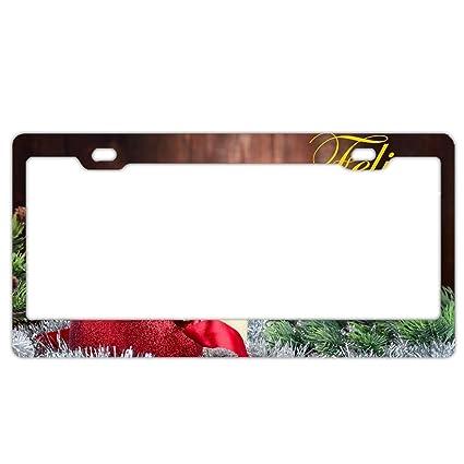 Amazoncom Kslids Christmas Decoration Bauble License Plate Frame