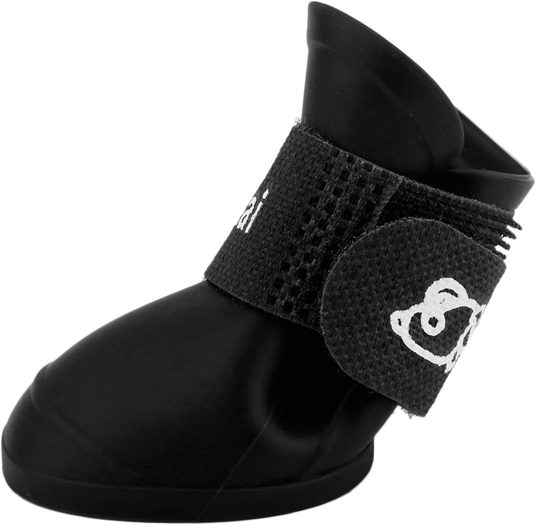 Creative Design Pet Dogs Lovely Comfortable Waterproof PVC Boots Fashionable Type Soft Rain Shoes for Small Dogs