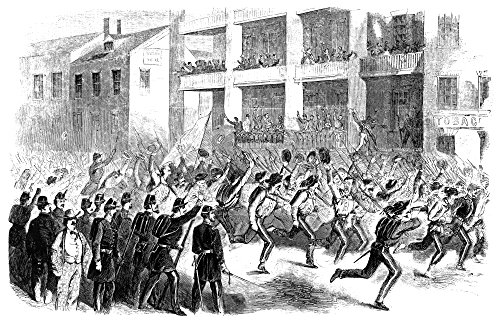 Va Confederate Soldiers Nthe Second Mississippi Regiment Running Through Main Street Winchester Virginia Wood Engraving From An American Newspaper Of 1861 Poster Print by (24 x 36)