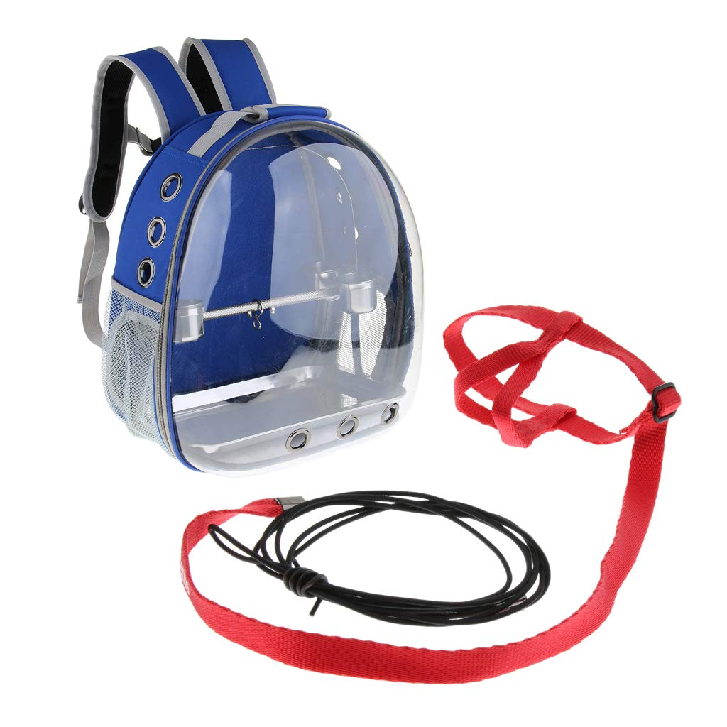 Homyl Pet Bird Outdoor Perch Parred Outside House Carried Backpack with Adjustable Harness Training Rope for Small Pet
