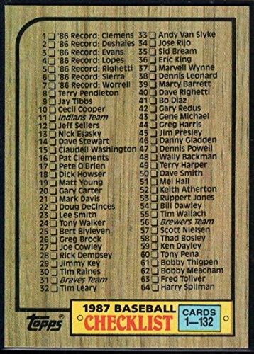 Amazoncom Baseball Mlb 1987 Topps 128 Checklist 1 132128
