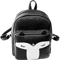 Donalworld Women Floral School Bag Travel Cute PU Leather Mini Backpack