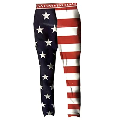 Top Drawer Mens USA American Flag Sleep Lounge Pajama Pants (XX_Large 44-46) at Men's Clothing store