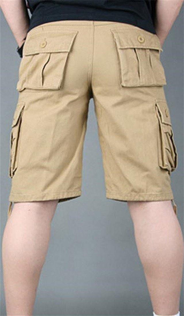 JSY Mens Breathable Baggy Multi Pocket Casual Cargo Shorts Pants