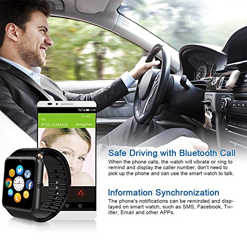 Bluetooth reloj inteligente Wearable Salud Reloj Inteligente ...