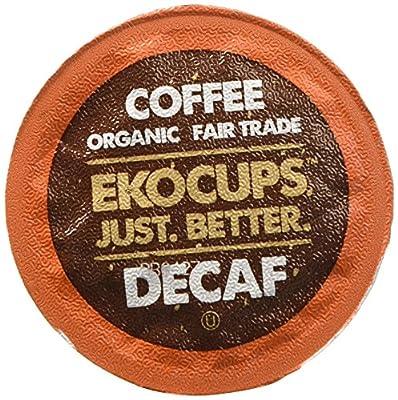 EKOCUPS Artisan Organic Decaf VanillaMedium Roast Coffee In Recyclable Single Serve Cups for Keurig K-Cup Brewers, 40 Count