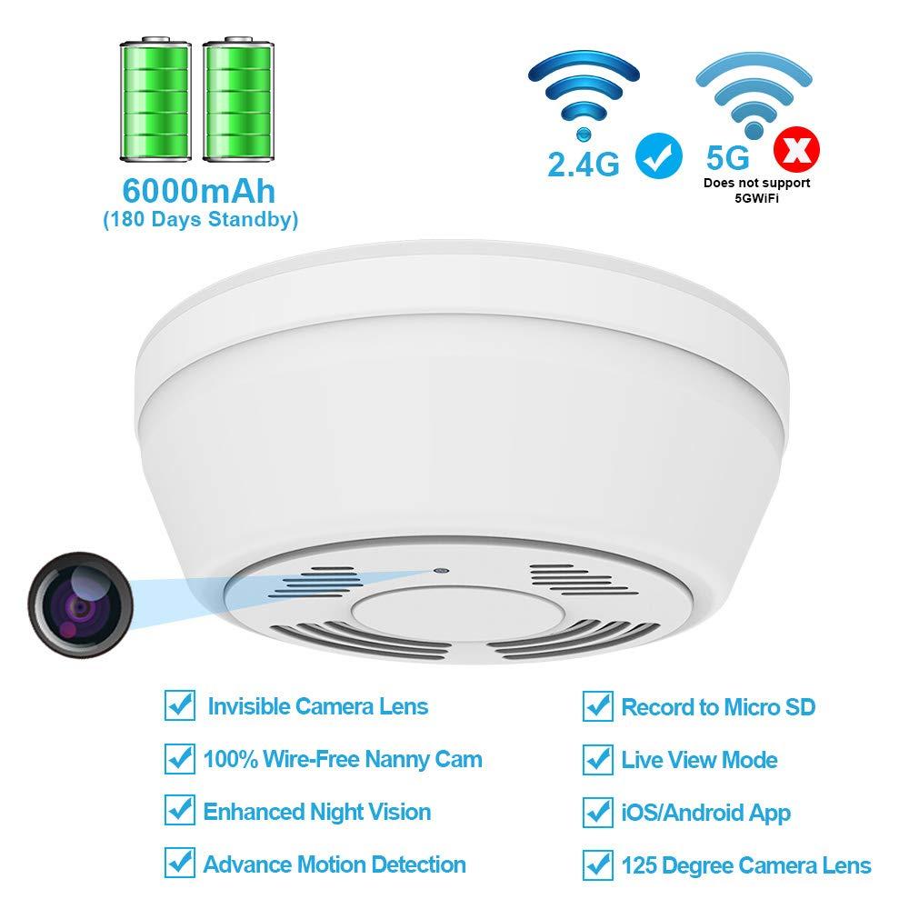 Hidden Camera Wifi Smoke Detector Fuvision Nanny Cameras And