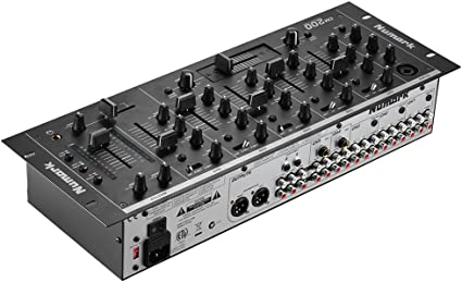 ammoon Profesional 5-Channel DJ Montaje en Rack Mezclador Estéreo ...