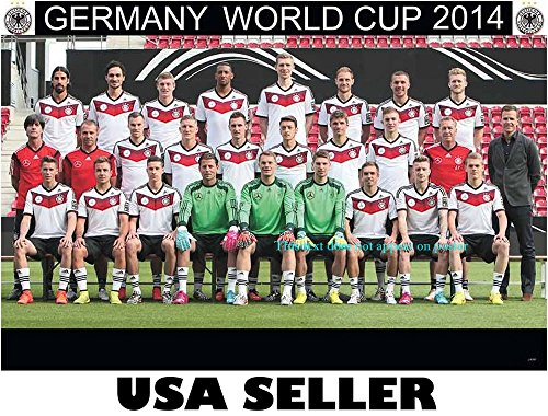 Germany 2014 national team POSTER 34 x 23 German football soccer World Cup winners Thomas Muller Mesut Ozil Manuel Neuer (sent FROM USA in PVC pipe)