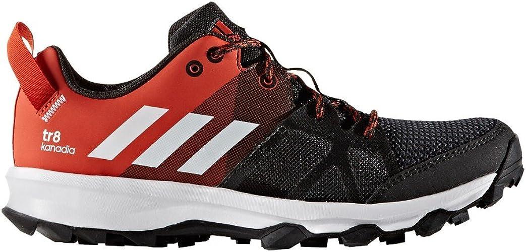 Autónomo tifón galope  adidas Kanadia 8 Junior Trail Running Shoes - AW16 - J12 Black:  Amazon.co.uk: Shoes & Bags