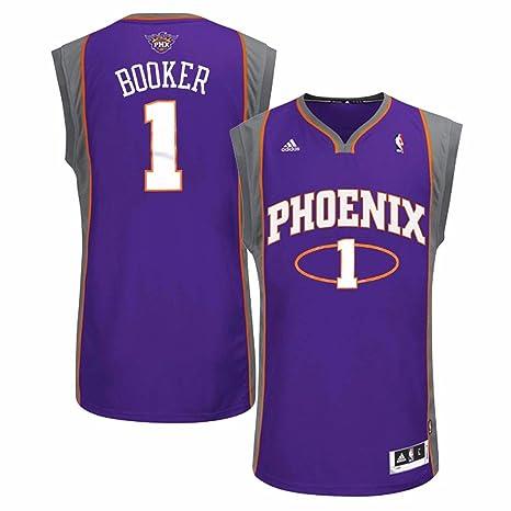 Adidas Devin reservante Phoenix Suns NBA Hombres Camiseta de Jersey Morado, XL, Púrpura