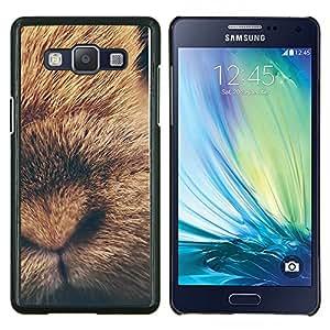 Conejo lindo del perrito del bebé animal de piel- Metal de aluminio y de plástico duro Caja del teléfono - Negro - Samsung Galaxy A5 / SM-A500