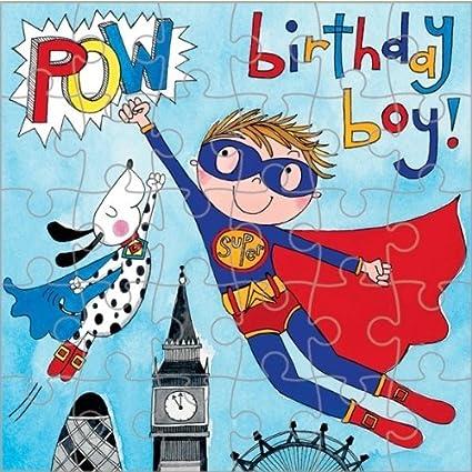 Tarjeta de felicitación de cumpleaños, diseño de superhéroe ...