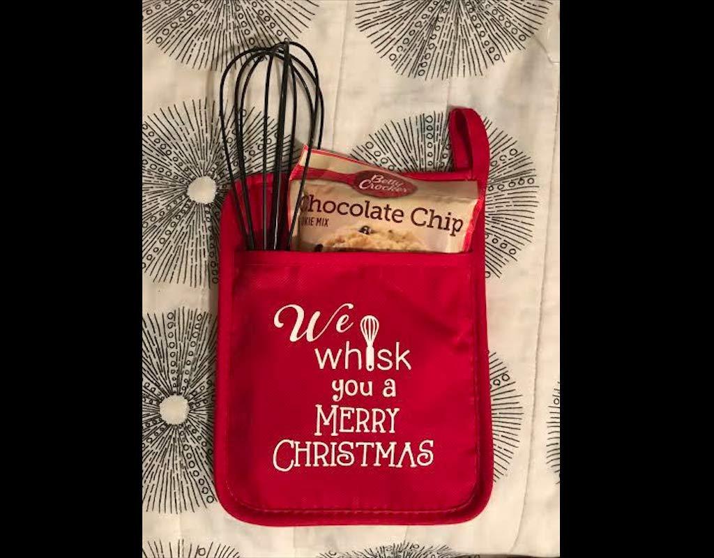 Teacher Gifts, HTV Potholder, Hostes Gifts, Oven Mitt, Santa gift, Teacher appreciation gift, Baker gift, Vinyl potholder, Cookies for Santa