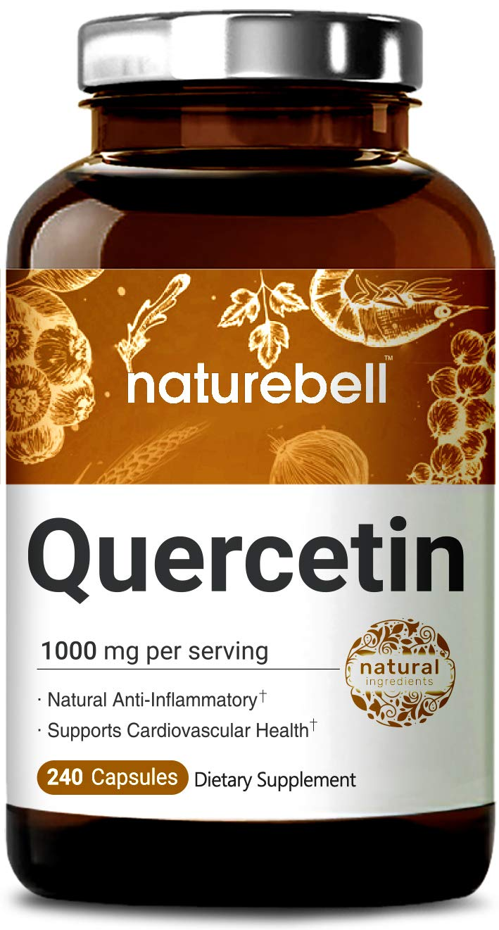 NatureBell Quercetin 1000mg Per Serving, 240 Capsules, Powerfully Supports Cardiovascular Health, Immune System and Bioflavonoids for Celllular Function, No GMOs and Made in USA. by NATUREBELL