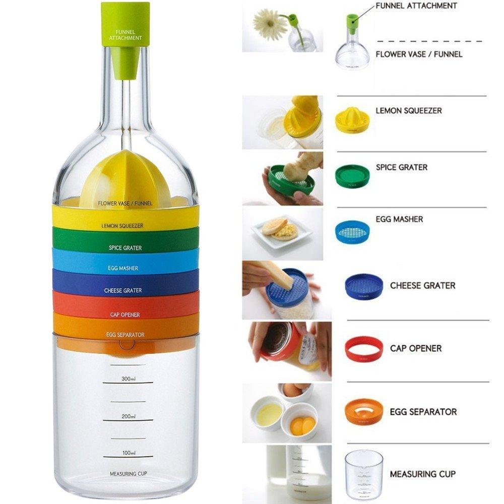 Locisne 8 in 1 Küche-Werkzeug, Mehrzweckfunktion Plastikbehälter ...