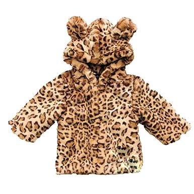 08ea12dca Amazon.com  Winter Infant Baby Girl Clothes Faux Fur Coat Warm Kids ...