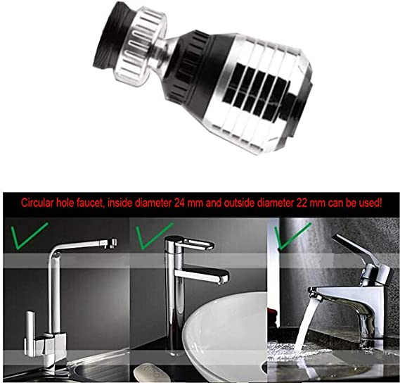 JYDQM 1Pc Tap Bubbler 360 Rotating Aerator Water Nozzle Saving Faucet Filter Adapter Spray Head Kitchen Faucet Extender Bathroom