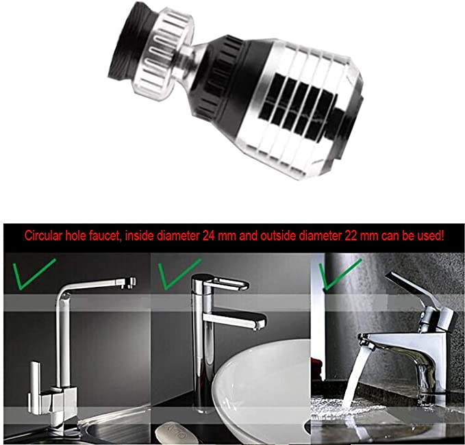 360° Rotate Water Saver Tap Aerator Home Kitchen Faucet Diffuser Adapter Filter