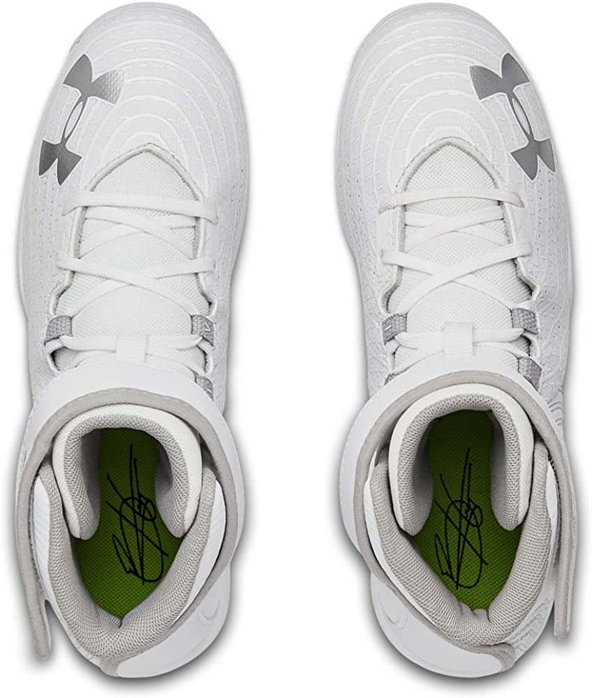 100 //White Baseball Shoe 1 Under Armour Boys Harper 4 Mid RM Jr