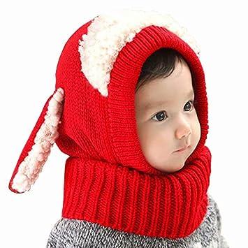 922fc8e2bb3aa1 Amazon | [アビコ]ABICO ベビーニット帽 赤ちゃん キッズ 可愛い うさぎ ...