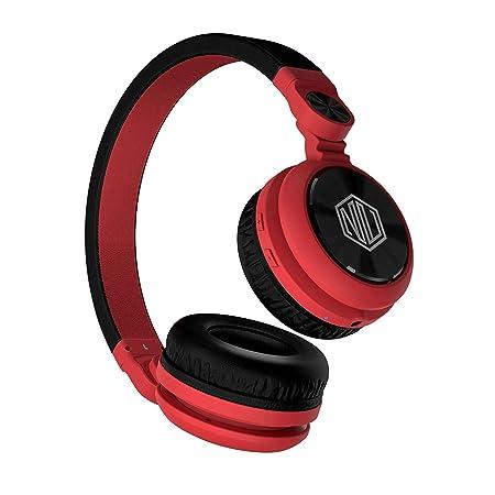 Nu Republic Starboy X-Bass Wireless Headphone with Mic (Red & Black) Audio Headphones at amazon