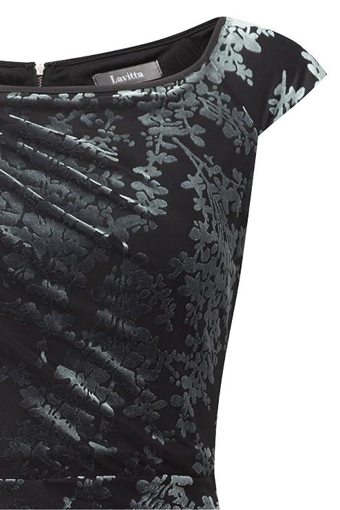 4f3f30dc881 Lavitta - Women s - Silver Blossom Devore Cap Sleeve Dress - 12-24 - Plus  Size  Amazon.co.uk  Clothing