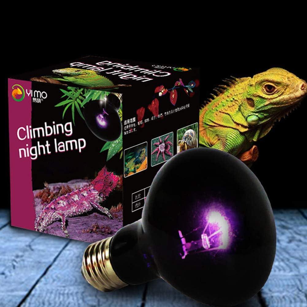 Elegante lámpara de calefacción Nocturna UVA para Reptiles, luz de Luna de imitación, lámpara de iluminación para Dormir Nocturno, para Mascotas Reptiles de Serpiente, Lagarto, 220 V, E27