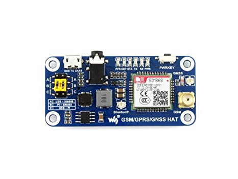 Amazon com: Waveshare GSM/GPRS/GNSS/Bluetooth HAT for Raspberry Pi