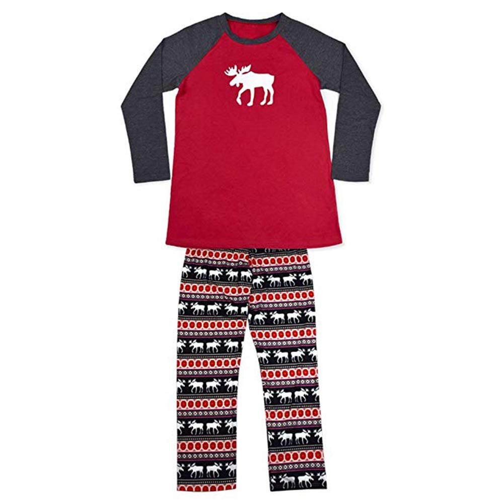 Elk Pattern Family Matching Christmas Clothes Mom Dad Baby Kids Xmas Deer Sleepwear Nightwear Pjs H180908B1207