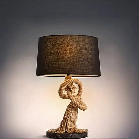Estilo Industrial Vintage Lámpara de Mesa Dormitorio Mesita ...