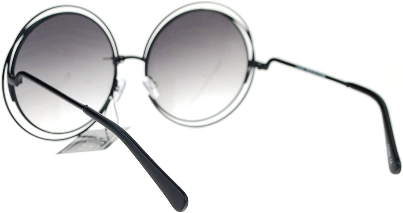 Avant Garde Double Circle Frame Round Designer Fashion Retro Sunglasses