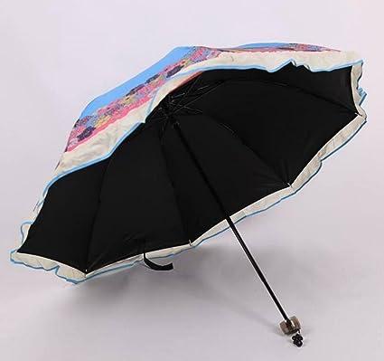 Sucastle Parasol, anti-ultravioleta, sombra, paraguas, impresión, plegado, apoluo