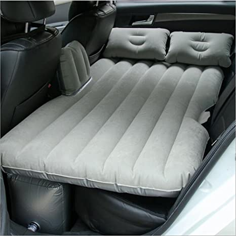 EGI Universal Charcoal Gray Inflatable Car Mattress For Back Seat Of Sedan SUV Pickup