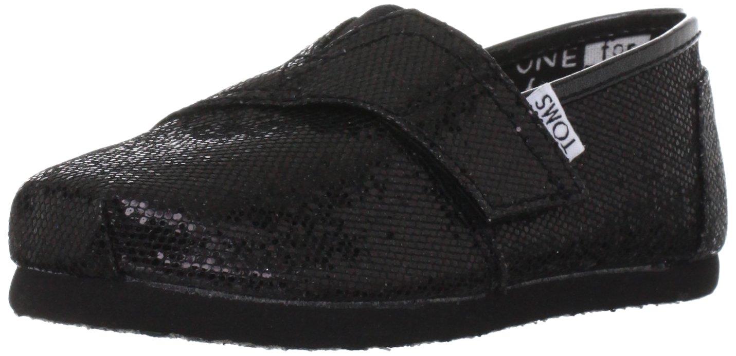 071b6efc356e5 Amazon.com: Toms Youth Classic Glitter Shoes Black, Size 8 M US ...
