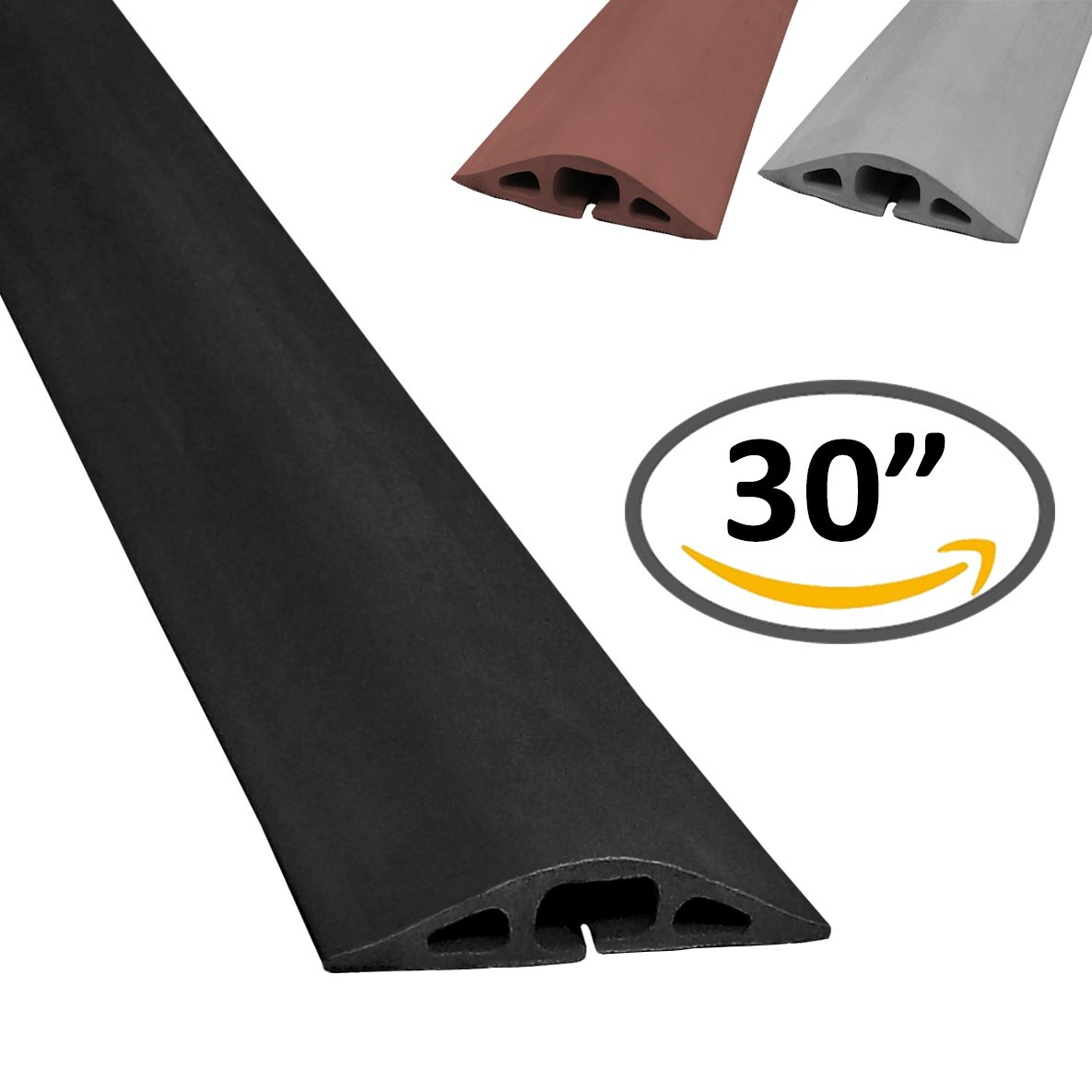 Amazon.com: D-2 Rubber Duct Cord Cover - Length: 5FT - Color: Black ...