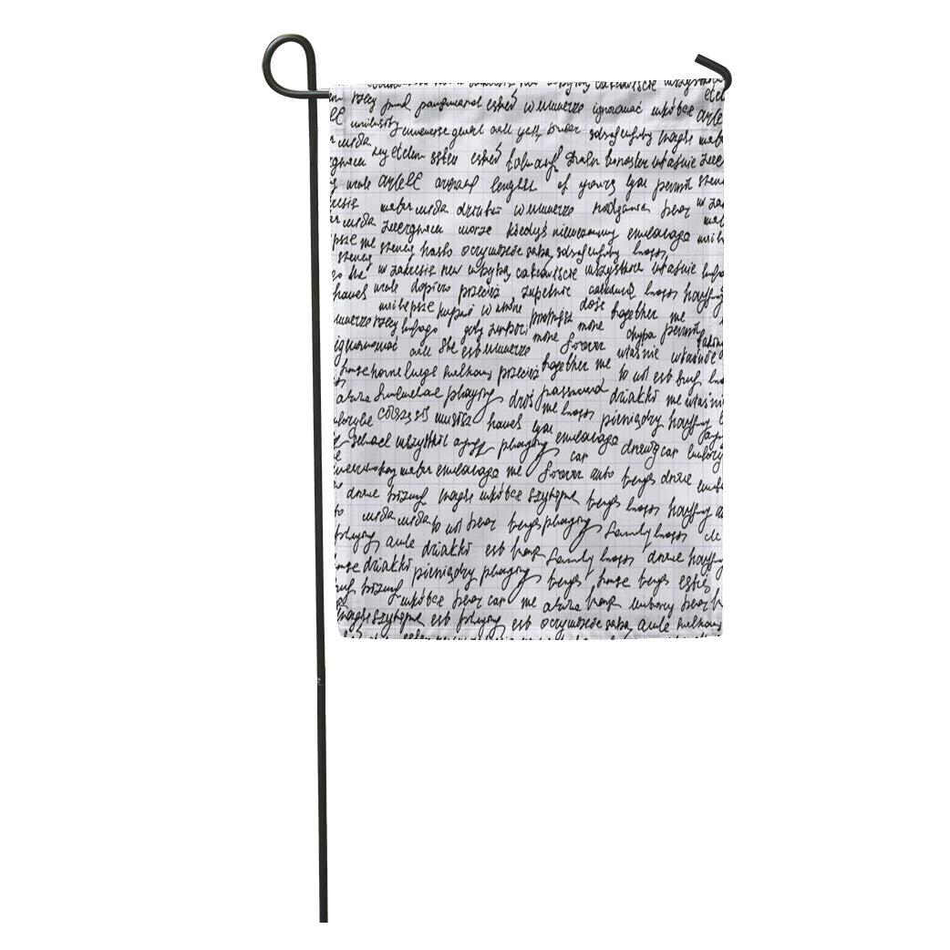Amazoncom Semtomn Garden Flag Manuscript Abstract Endless
